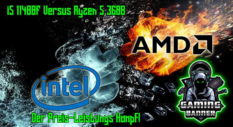 Intel Core i5 11400F greift AMD Ryzen 5 3600 an